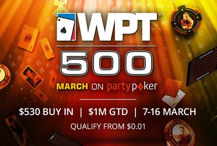 Partypoker анонсировал две мартовские серии - WPT 500 и Irish Open Online