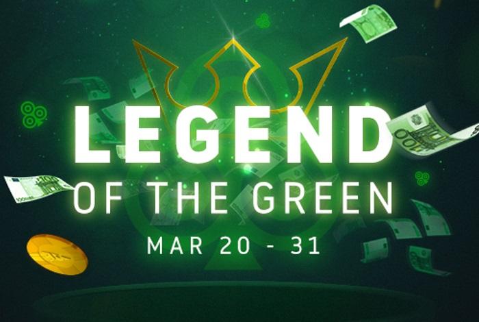 Акция Legend of the Green на Run It Once Poker: 4 бонуса за первый депозит