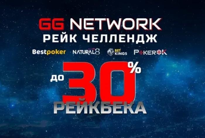 В покер-румах сети GGNetwork стартовала рейк-погоня Rakeback.ru с рейкбеком до 30%