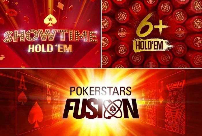 PokerStars запустит 6+ Holdem, Showtime и Fusion в формате турниров