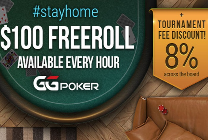 GGNetwork снизил рейк в турнирах и запустил ежечасные фрироллы $100 StayHome