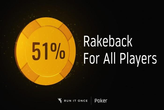 Run It Once Poker анонсировал размер рейкбека