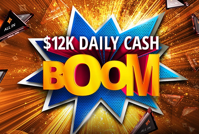 На partypoker стартовала акция для игроков кэш-игр и Spins - Daily Cash Boom с ежедневным розыгрышем $12,000