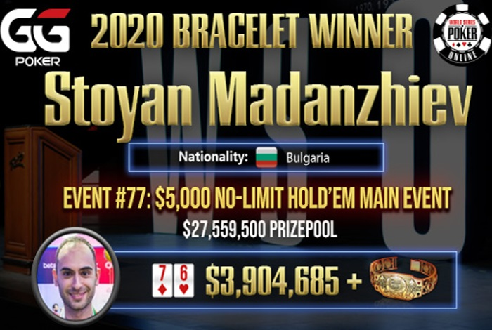 Болгарин Стоян Маданжиев стал чемпионом Главного события WSOP Online