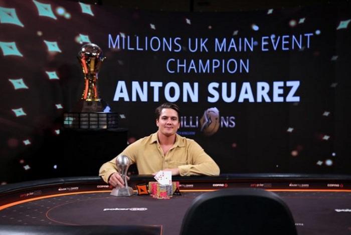 Антон Суарес выиграл Main Event на partypoker Millions UK